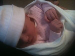 A picture of mia only 24 hours old